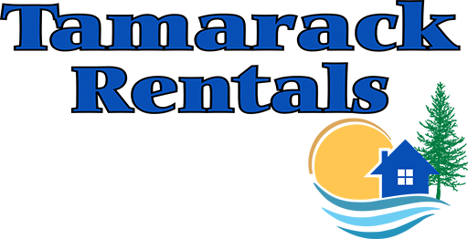 Tamarack Rentals, header logo. Maine vacation rentals.